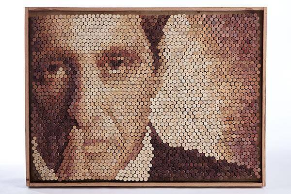 Al Pacino in 2688 corks by Lukas Sebastiaan